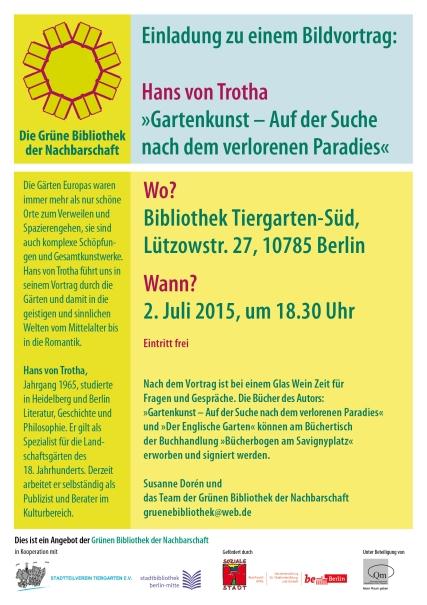 GBN_Einladung_Bildvortrag Hans von Trotha